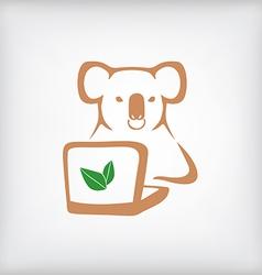 Koala laptop vector