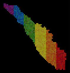 Lgbt pixel sumatra island map vector