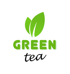 logo with green tea vector image