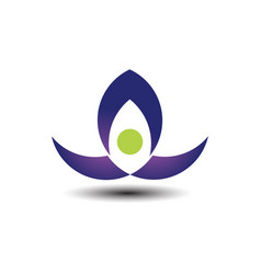 lotus business logo vector image