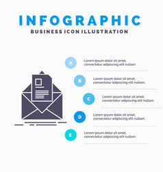 mail contract letter email briefing infographics vector image