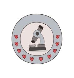 Microscope science equipment vector image
