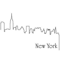 New york city one line drawing vector