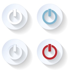 Off flat icon vector