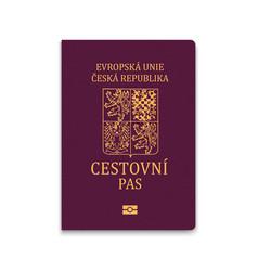 Passport czech republic vector