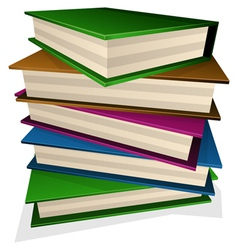 pile of books vector image