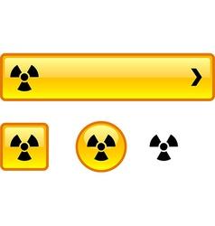 Radiation button set vector