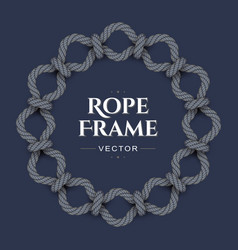 Round rope frame vector