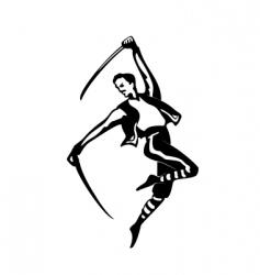 sabre dance vector image