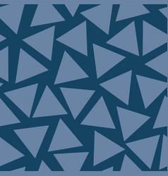 seamless pattern blue triangles random vector image