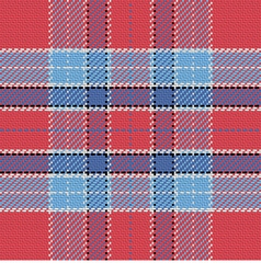 Seamless pattern Scottish tartan red and blue vector