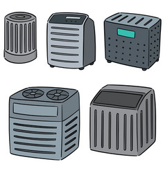 Set air purifier vector