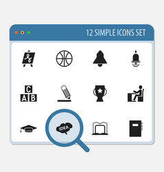 Set of 12 editable science icons includes symbols vector