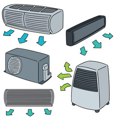 Set of air conditioner vector