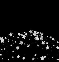 Silver star confetti vector
