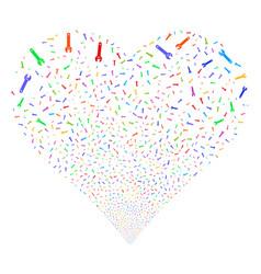 spanner fireworks heart vector image