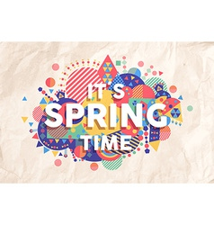 Spring time quote poster design vector image