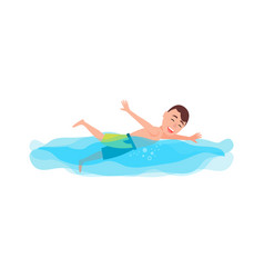 Swimming sport and activity vector