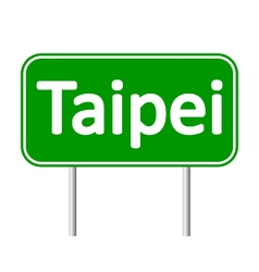 Taipei road sign vector