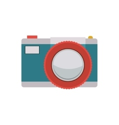Tech digital camera with flash vector