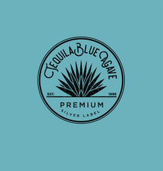Tequila logo and silver tequila label vector