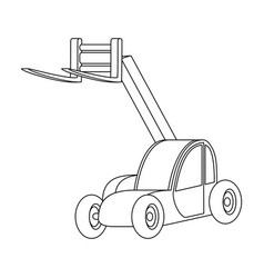 the car lift for loading cargo into the truck for vector image