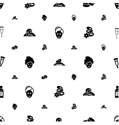Therapy icons pattern seamless white background vector