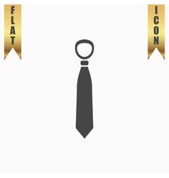 Tie flat icon vector