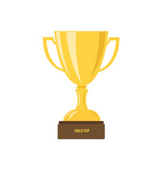 trophy cup flat icon with number one vector image