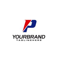 unique logo that forms letter p matches your vector image