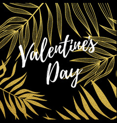 valentine day greeting card design template vector image
