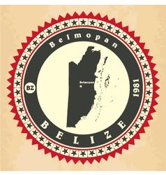 Vintage label-sticker cards of Belize vector
