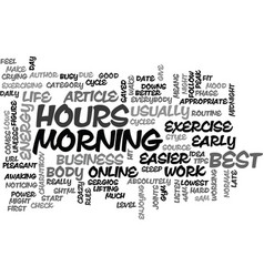 When to exercise text word cloud concept vector