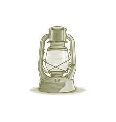 woodcut lantern vector image