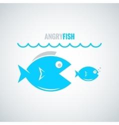 fish concept design background vector image