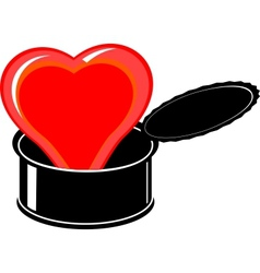heart in a can vector image