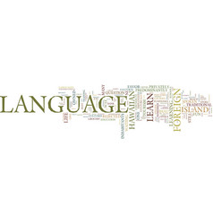 learn foreign language with fun text background vector image vector image