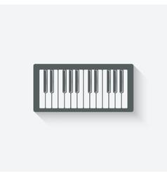 piano music design element vector image