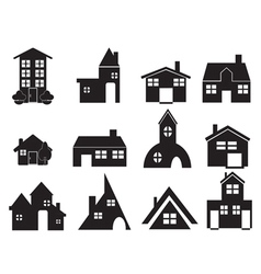 set of house icons vector image vector image