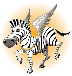 The pegasus zebra vector image vector image