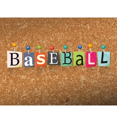 Baseball Concept vector image vector image