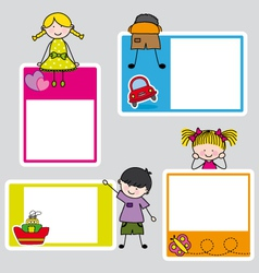 Children picture frame for girl and boy vector image vector image
