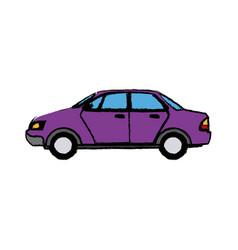 City car sedan automobile transport motor side vector