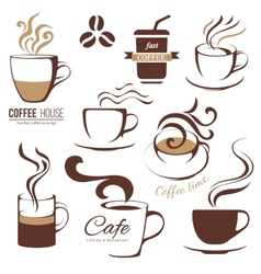 coffee and cafe lofo templates vector image vector image