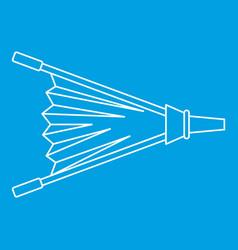 Fire bellows icon outline vector