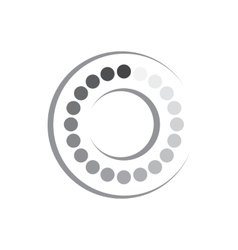 Geometric shape of circles and ring icon vector image