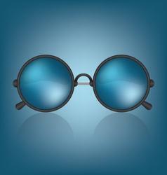 Retro blue sunglasses vector image