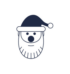 santa claus head isolated icon vector image vector image
