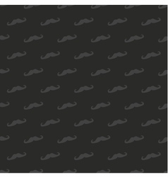 Tile dark mustache pattern or seamless background vector image vector image