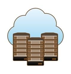 web hosting server banner icon vector image